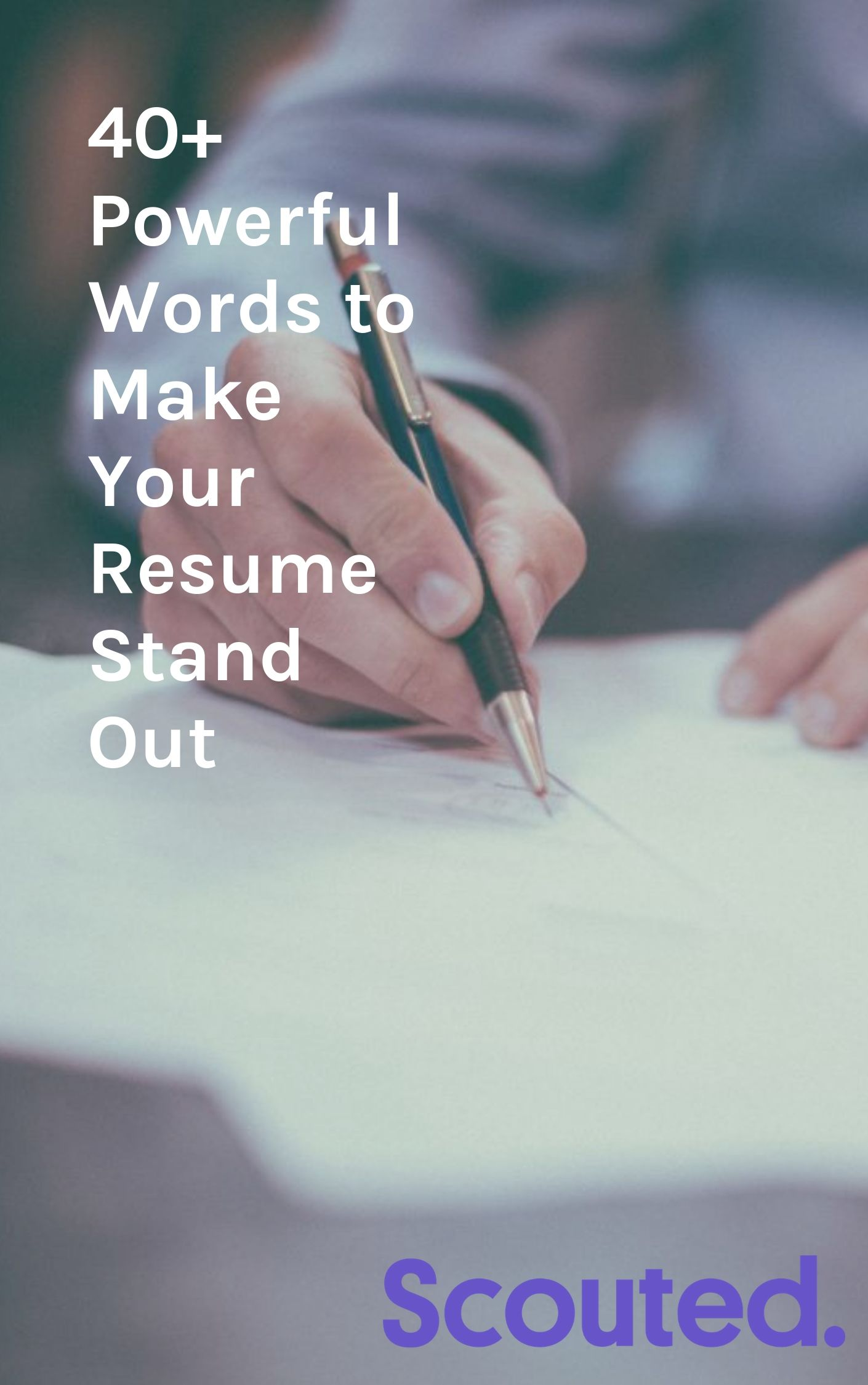While you don't have to copy and pastethesewords and force them into your resume, take a hard look at your resume and ask yourself if it really tells a hiring manager what you can do for them. And if you feel inclined to some word inspiration to help spruce up your resume, take a look at the list we curated below and feel free to glitter your resume with words that will show a hiring manager that you're a game changer. You don't just show up and do a job, you show up and make a difference.